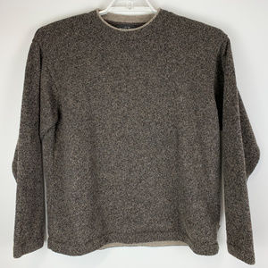 Woolrich Mens Pullover Sweater Heather Brown XL